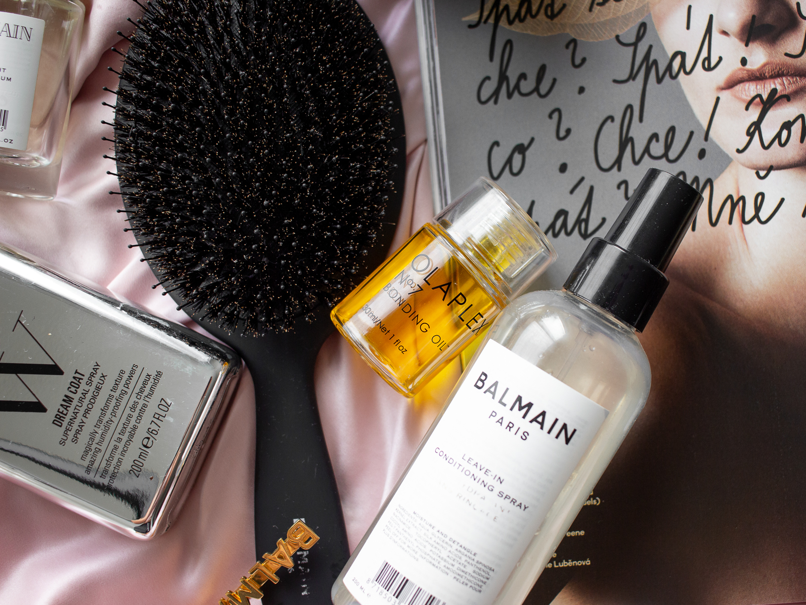 olejíčky na zničené vlasy olaplex Balmain